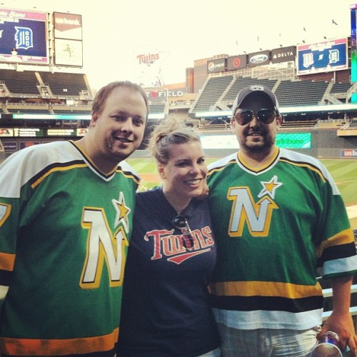 Twins game with my favorite crazies, @omnomnomtom and @weldibeast. #TheyMissHockey  (Taken with Instagram)