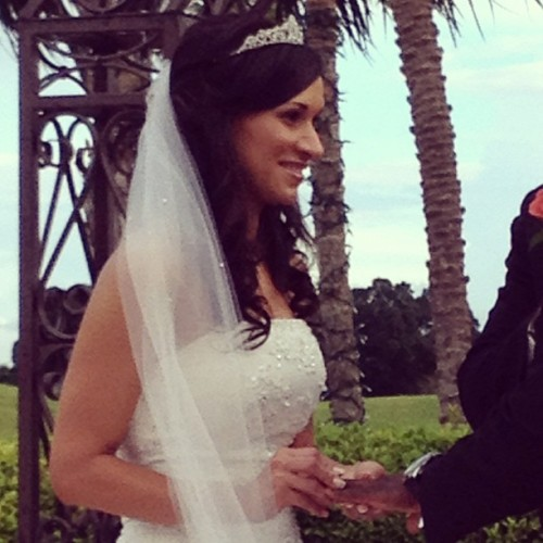 The bride looks absolutely stunning!  (Taken with Instagram)