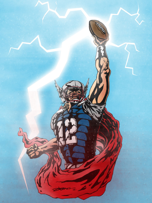 "dwaynebateman:  ""The Mighty Brady"" Tom Brady meets Thor Mashup."