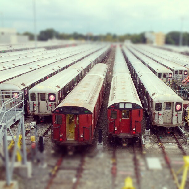 7 train repair station, Queens. #latergram #nyc #queens  (Taken with Instagram)
