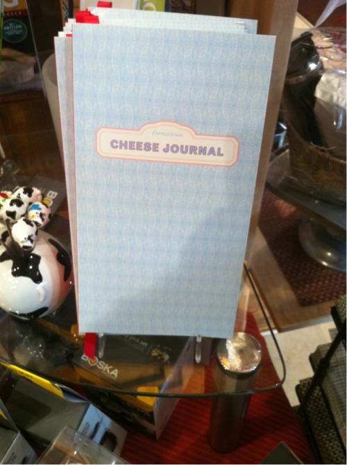 I don't think I eat enough cheese to require a Cheese Journal. That's really too bad.