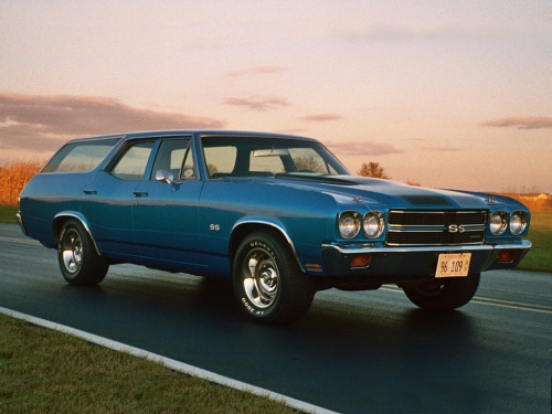shelby4271965:  Of all the muscle cars, the Chevelle was always right up there for me.  Oh man, totally did no know the Chevelle came in a wagon… They never really did anything for me until now. Seating for eight, massive cargo space, big American V8… Cross country candidate? You bet your ass.