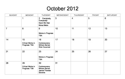 Hey gang— October is almost here! So check out our fantastic upcoming events!