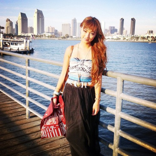 Beautiful day in SD with @chvrleski☀ #ootd (Taken with Instagram)