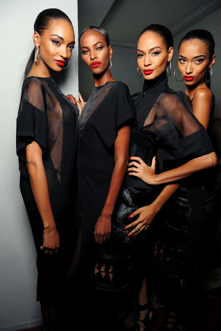 lamusenoire:  Reminds of the old days. Jourdan, Yasmin, Joan and Anais for Jean Paul Gaultier SS 2013 RTW.