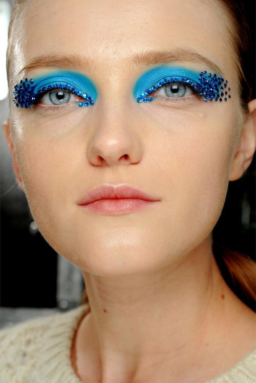 rougevision:  Vlada Roslyakova at Christian Dior Ready to Wear Spring - Summer 2013 Backstage.