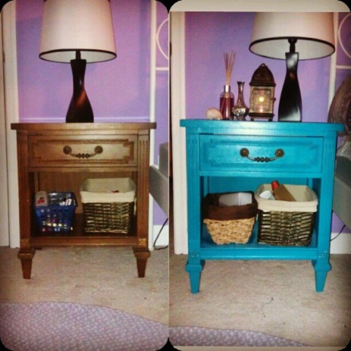 So in love with my end table! Can't believe how awesome it turned out! The whole thing ended up costing me only $40!!!! Woooohooooo! (Taken with Instagram)