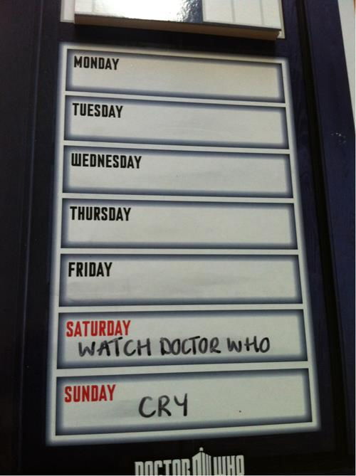 doctorwho:   Whovian weekend plans.