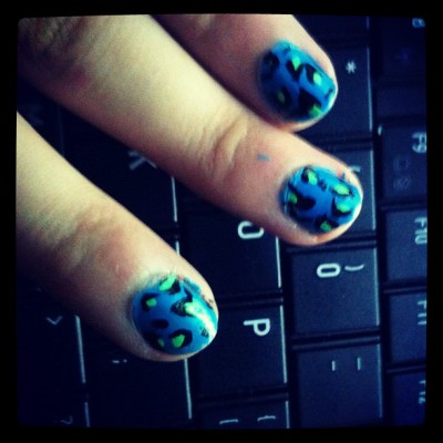 Leopard print nails :3 (Taken with Instagram)