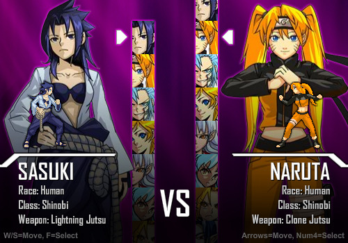 "From the fan-made game ""Anime Smash Beta"" featuring the female versions of your favorite anime characters!!!!  Would you play it? If so, check out the link! Here ~SeiChan"