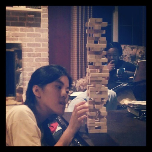 09282012 #Jubilation Lock In // My opponent for our #Jenga #Tournament! // #Jube #GameNight #Games  (Taken with Instagram at Paramus)