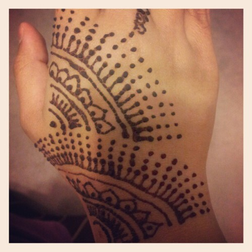 Got some Henna done! (Taken with Instagram)