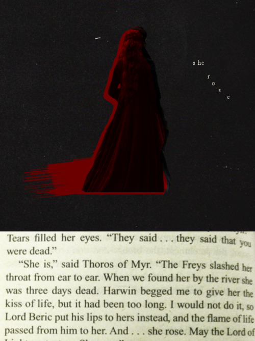 ASOIAF Challenge: Favorite plot twist  » Lady Stoneheart  She rose. May the Lord of Light protect us, she rose.