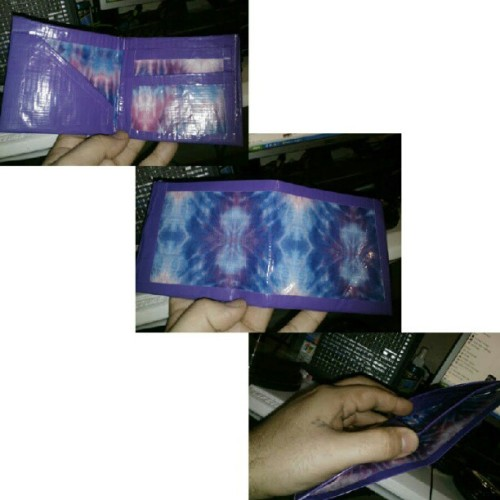 Another duct tape wallet by my kid. I call it The Hippie. Hahaha This ones for sale $10 or $12 shipped vgclothing@gmail.com for details (Taken with Instagram)