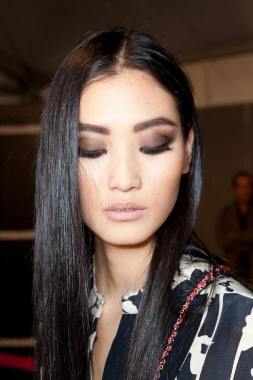 fashionfever:  Backstage Dsquared2 SS 2013, Milan Fashion Week, Lina Zhang