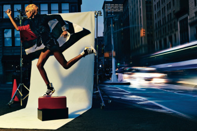 Jourdan Dunn channeling Grace Jones for Italian Vogue