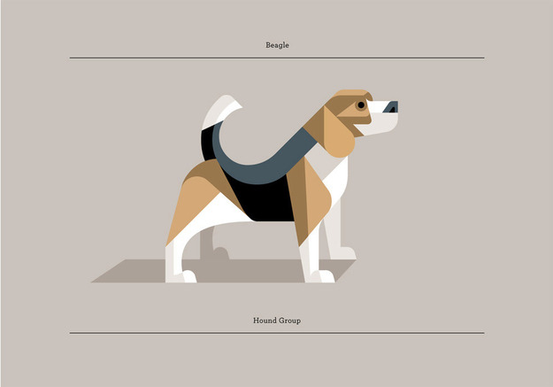 Really awesome minimalist posters! Check out more dog breeds here.