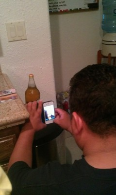 Posting a photo of Joe (my father) posting a photo of his miller highlife on instagram tagging it as #2for4$