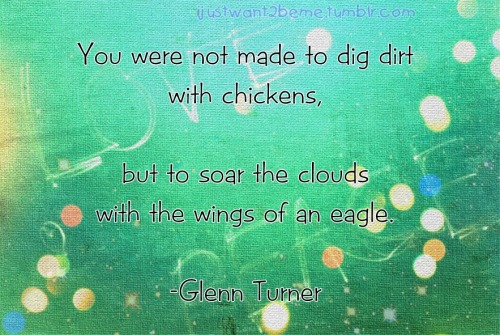 Not Dig the dirts. It's Soar the clouds :)