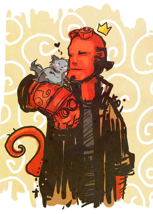 somewhereontheiceplanet:  Hellboy by ElKoi