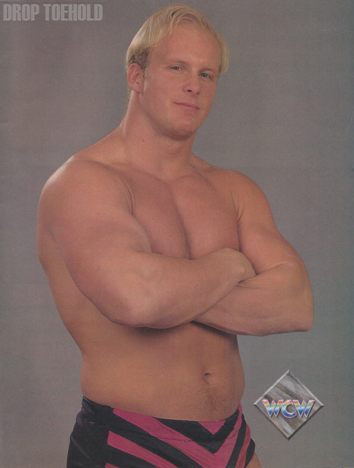 "Steve Austin - WCW Magazine Collector Series Special #3 [December 1992]  ""'The World belt will be mine when I decide the time is right.' 'Stunning' Steve Austin has proclaimed himself 'the world's greatest athlete.' While many sneer at that assertion, even Austin's harshest critics agree that this Hollywood, California, native is on the fast track to success. The two-time World television champion impressed everyone in his first tenure with the title, a 10-month reign from June 1991 to April 1992 that fell just eight days short of matching the longest World television title reign of all-time. Ultimately, however, this 6'2"", 255-pounder has his sights set on the top prize: the World heavyweight championship. Considering the huge amount of success Austin has enjoyed in only three years as a pro, only the moist shortsighted analyst of the sport would doubt his resolve and deny the likelihood that he would eventually achieve his goal.""  Who would have thought that this man would become not only the savior of the WWF but an actual icon of the entire industry that helped wrestling become popular in the mainstream pop culture? I mean, look at dem shorts!"