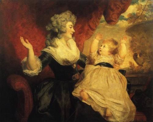 Georgiana, Duchess of Devonshire with Her Infant Daughter Lady Georgiana Cavendish by Sir Joshua Reynolds, 1783 England, the Devonshire Collection