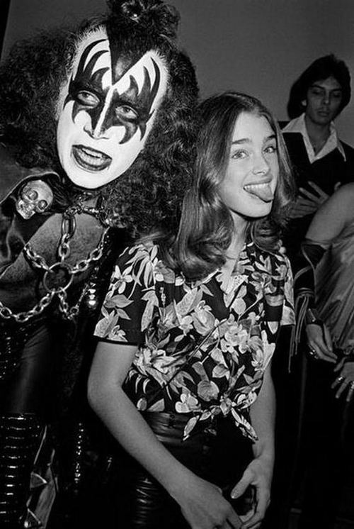 superseventies:  Gene Simmons and Brooke Shields, 1979.