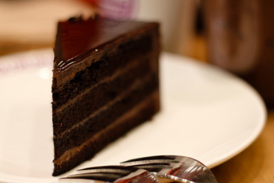 Chocolate Mousse Cake by stuckinseoul on Flickr.