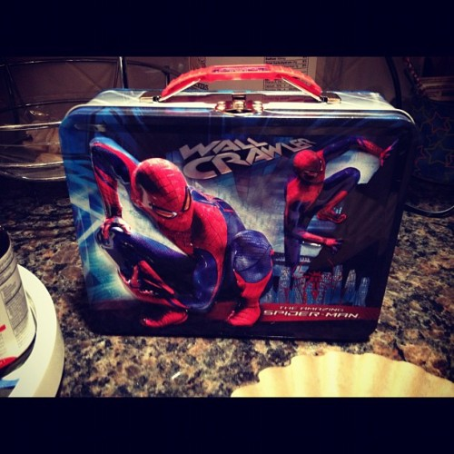 #spiderman #peterparker #marvel comics #lunchbox (Taken with Instagram)
