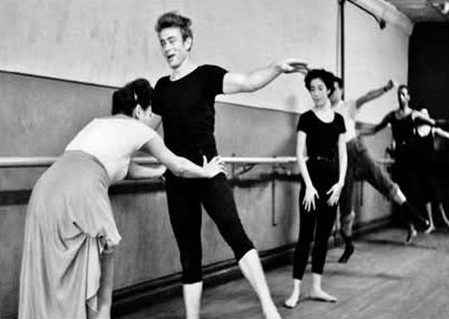 James Dean - Gay Icon James Dean taking dancing lessons, New York 1955 © Dennis Stock / Magnum Photos James Byron Dean (Feb. 8, 1931 - Sept. 30, 1955) (Malesoulmakeup)