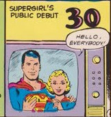 Today in the world of DC Comics: 30th September - The public debut of Supergirl