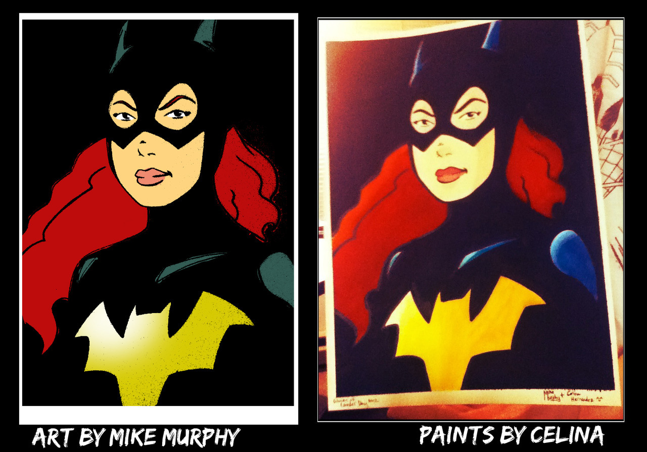 Batgirl by Mike Murphy and Celina Hernandez for WOMEN OF WONDER DAY 2012