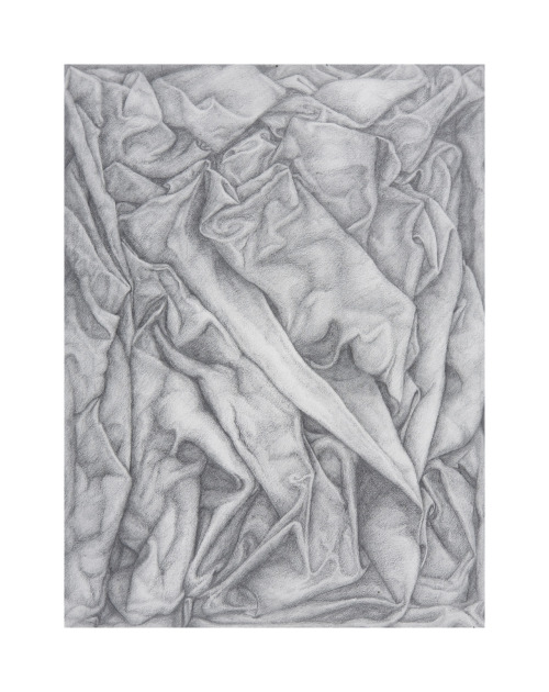 Cloth. graphite hand-drawing. Dominika Linowska. Fall 2007.