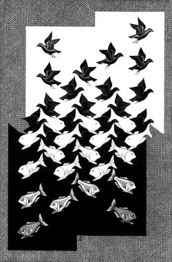 theantidote:  Sky and Water by M. C. Escher