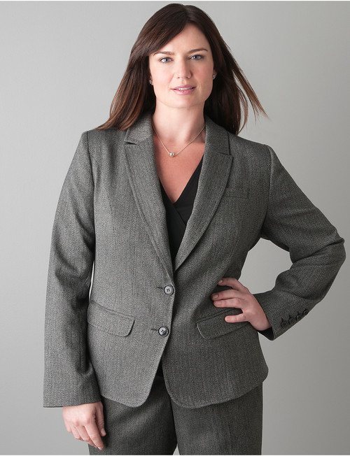 Lane Bryant Herringbone jacket