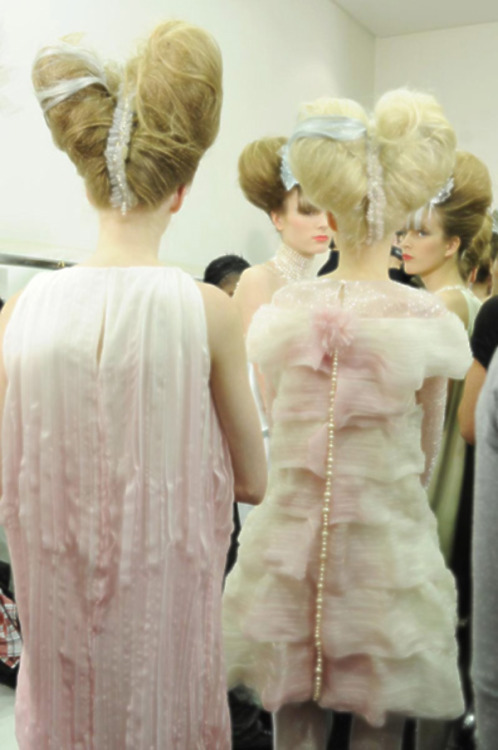 backstage, chanel haute couture s/s 2010
