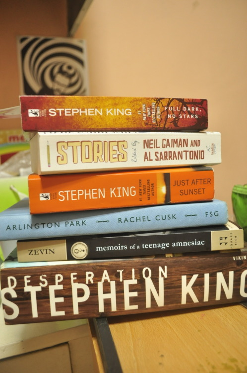Yay for books to read! :D Guess whose works I'm loving right now. Haha! P.S. April lent me Zevin's book. <3 THANK YOU!