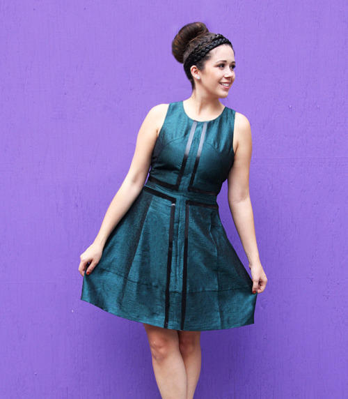 (via I Spy DIY: [My DIY] Leather Striped Dress)