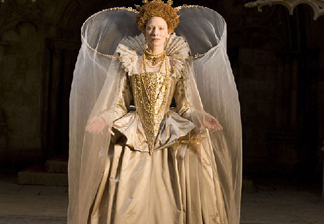 Cate Blanchett as Queen Elizabeth I. <3