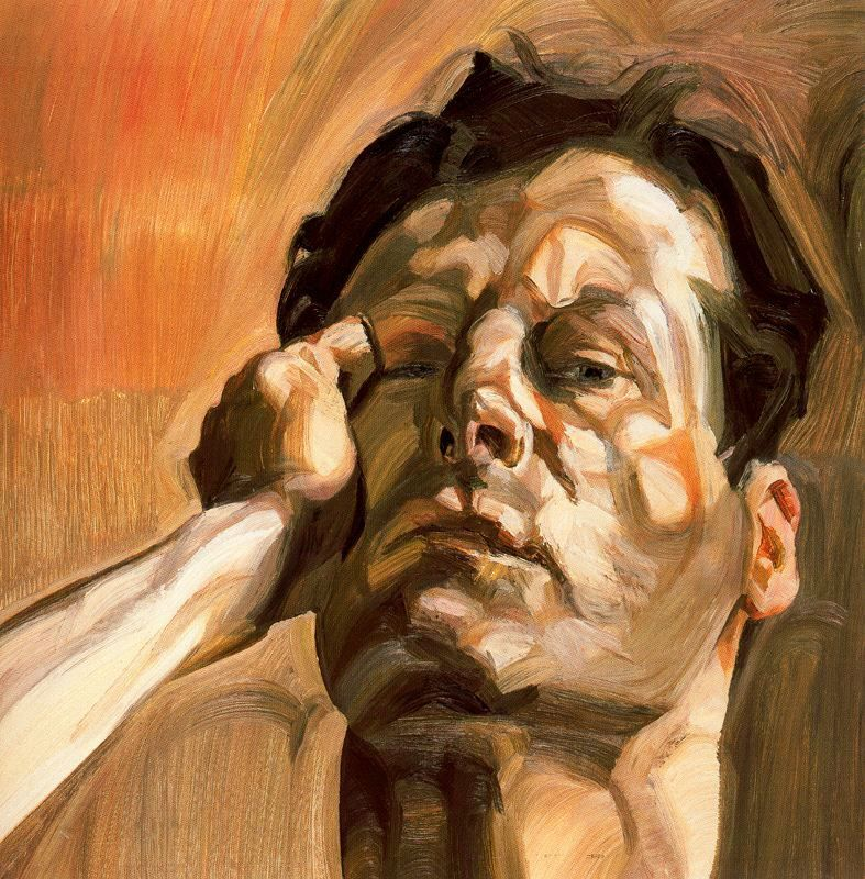 Lucian Freud, Man's Head, self-portriat, 1963