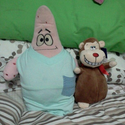 Patrick's new buddy, Mr. Gorgeous. :))) (Taken with Instagram at Diane's Room)