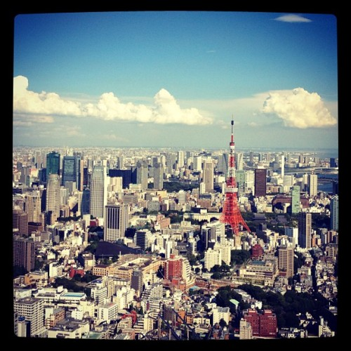 Tokyo Tower ( from mori tower) (Taken with Instagram)