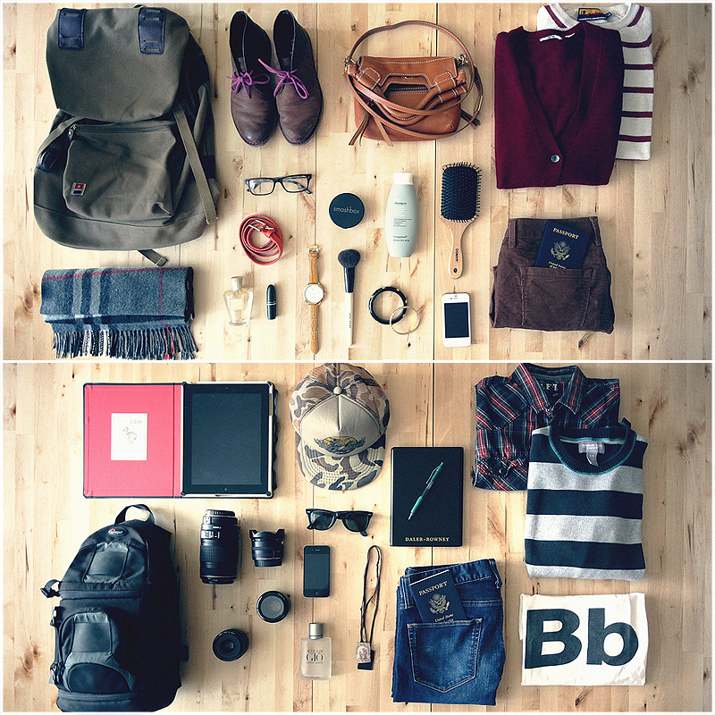 SUBMISSION: Girlfriend & Boyfriend Packing for October Trip in Europe. ed: Sorry, this image got buried in the Inbox last month.
