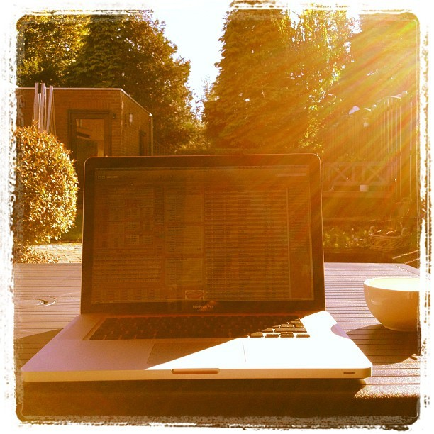 September 30, working outside! (Taken with Instagram)
