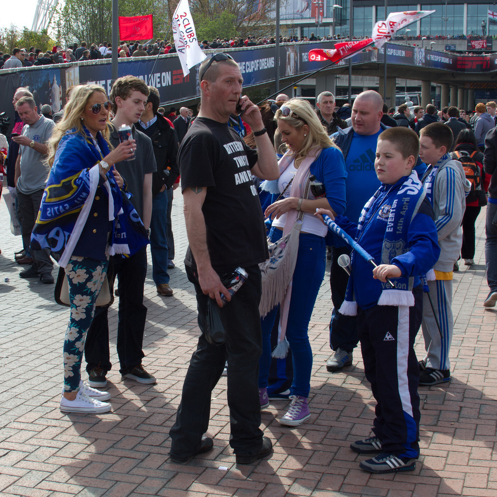 Blue family on Wembley Way
