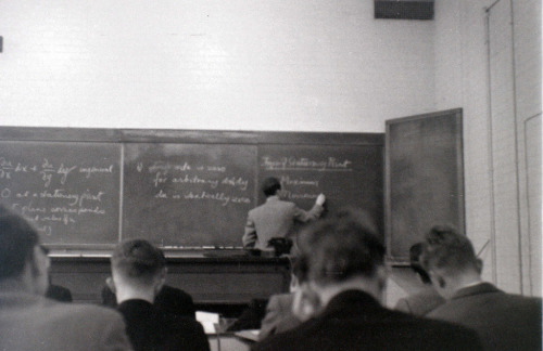 Chemical Engineering lecture, Imperial College, London, November 1957 (by allhails)