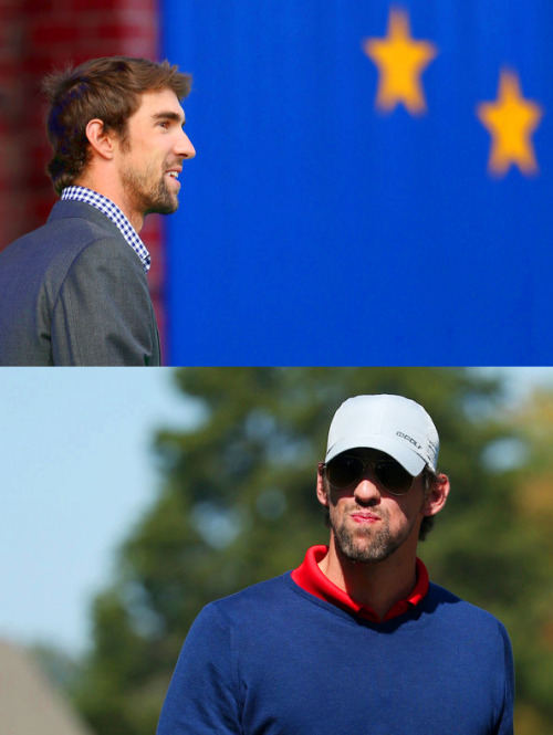 Michael Phelps @ the 2012 Ryder Cup