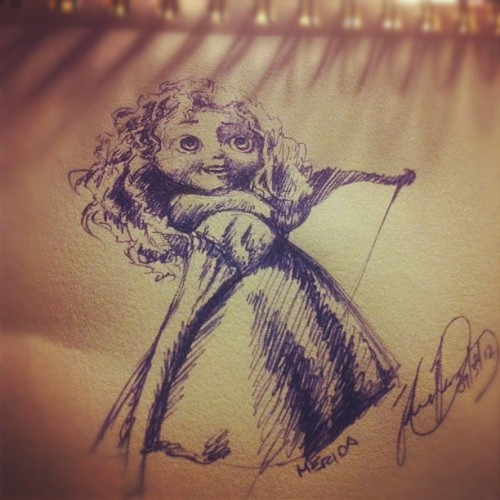 artisticdud:  Good Morning! Just a quick sketch. :) #art #disneyart #disney #merida #brave #bow (Taken with Instagram)