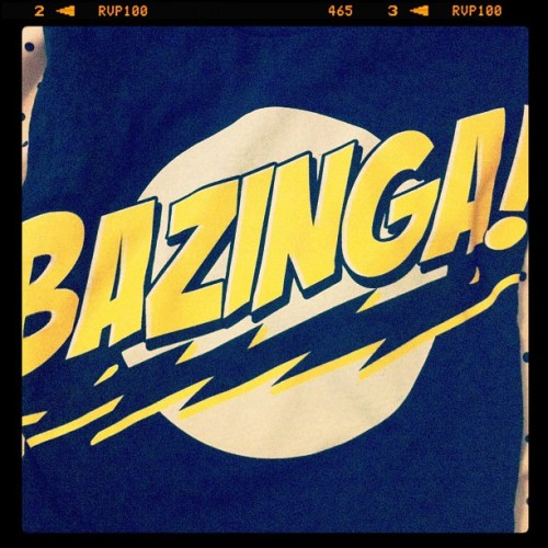 Yes, folks. This just happened. #bazinga (Taken with Instagram)