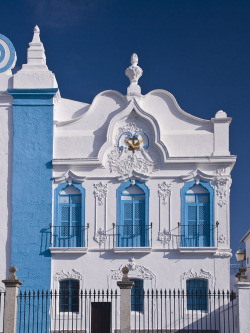 travelingcolors:  Blue and White Church in Campo Maior, Alentejo | Portugal (by malcolm bull)